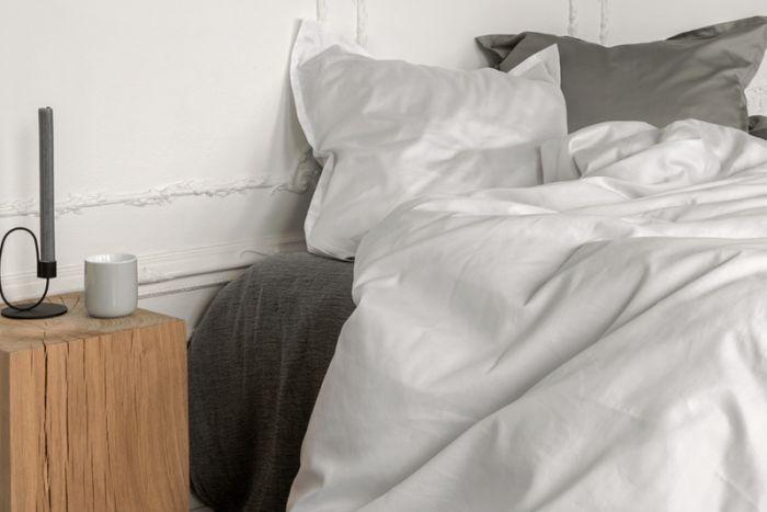 Georg Jensen Damask sengetøj -  PLAIN hvid - 140x200 - 2 sæt