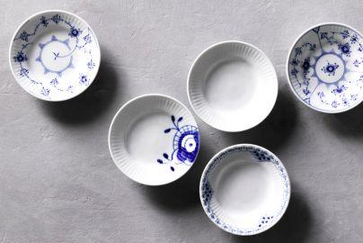 Håndmalede mini-tallerkener fra Royal Copenhagen - 5 stk