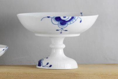 Royal Copenhagen blå megamussel skål på fod - 15 cm
