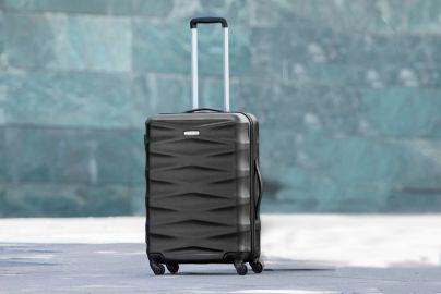 Georg Jensen Damask Spinner kuffert - mellem - sort