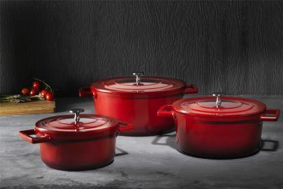 Provencegryder 3 størrelser - røde
