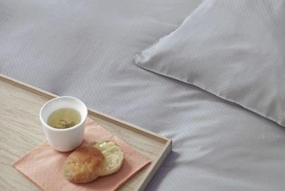 Skagen bambus sengetøj, grå - 2 sæt