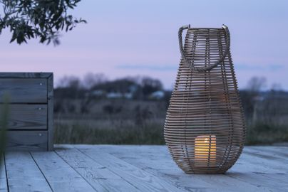 Lanterne med LED bloklys