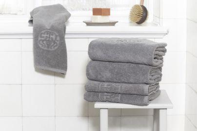 GJD ØKO håndklæder Monogram grå 2+2+2