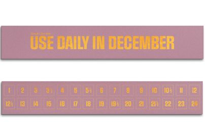 Simply julekalender Use daily in Dec. 30 stk. rosa - 300 g