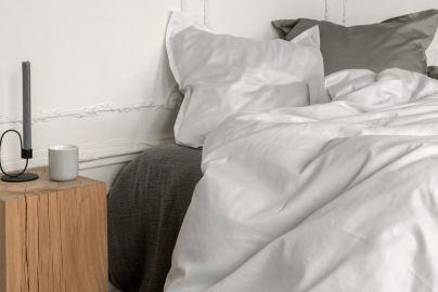 Georg Jensen Damask sengetøj - PLAIN hvid - 140x220 - 2 sæt