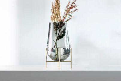 Menu Echasse vase - smoke glas H28