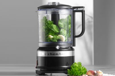 Kitchen Aid mini foodprocessor med pisker - sort 1,2L