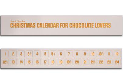 Simply Chocolate julekalender - hvid, 300 g