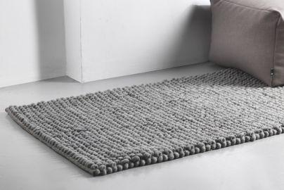 HAY PEAS tæppe - grå, 140x70