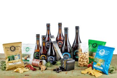 Stor ølgave med italienske øl, Erik Bagger øloplukker og snacks