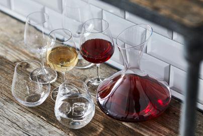Vinsæt Lyngby krystal karaffel og glas 19 dele