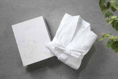Ambience du Nord badekåbe hvid
