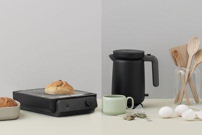 Stelton RIG-TIG Foodie toaster og elkedel sort