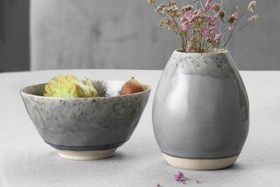 Costa Nova Maderia vase og salatskål grå