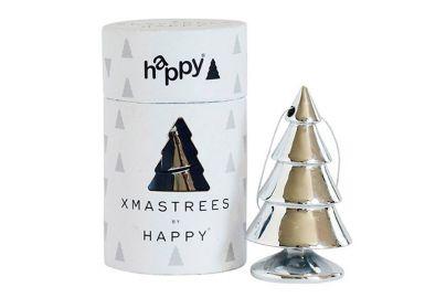 Happy Xmas mini-juletræ i sølv
