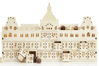 Magasin julekalender med lys og delikate chokoladetrøfler - 288 g
