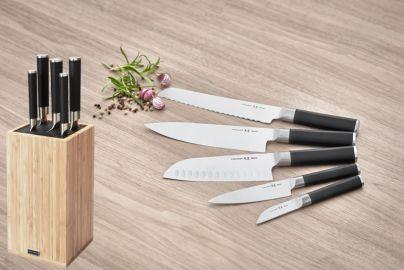 Raadvad Sensei knivblok m. 5 knive