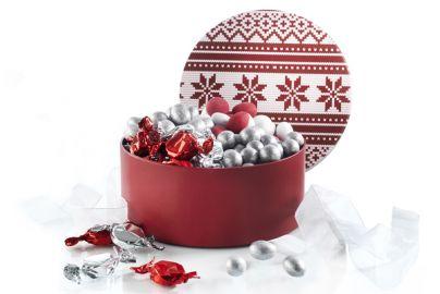 Hatteæske fyldt med chokolade & Karameller - 1000g