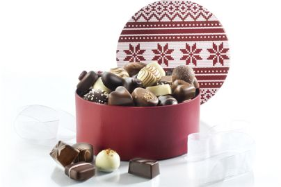 Hatteæske fyldt Luksus chokolade - 500g