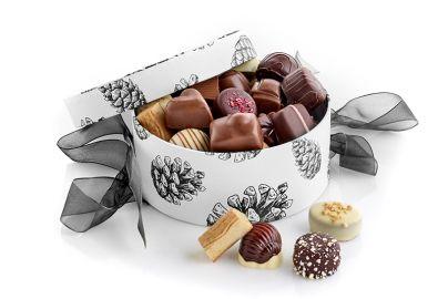 Hatteæske kogler m. luksus chokolade 500g