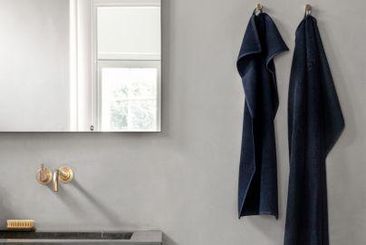 Håndklæde serie fra Georg Jensen Damask - kongeblå 6 stk.