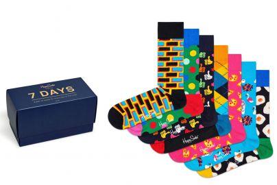 Happy Socks til 7 dage str. 41-46 - 2 pakker