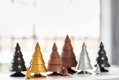 Happy Xmas sort juletræ - guldstjerner