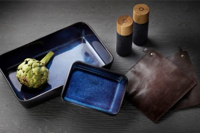 Bitz gavepakke -  2 fade, salt- & peberkværne og 2 grydelapper