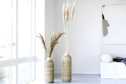 Bali bambus vaser 2 stk H50 og H60