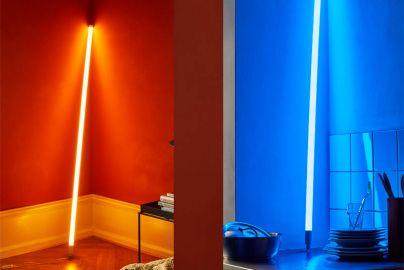 HAY neonrør LED - blå og varm hvid