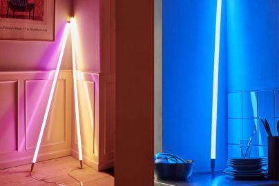Hay neonrør LED blå, pink og varm hvid
