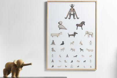 Kay Bojesen poster og elefant