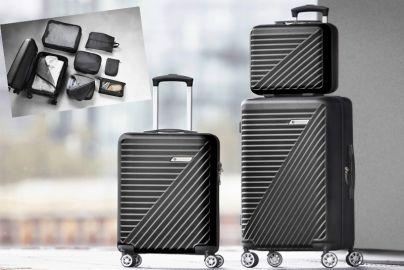 TJ trolley sæt af 3 stk og kuffert organizer