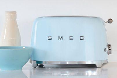 Smeg toaster til to skiver brød - pastelblå