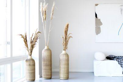 Bali bambus vaser 3 stk H50, H60 og H70